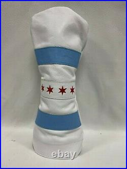 Winston Collection Chicago Flag American Leather Golf Driver Head Cover USA
