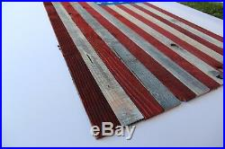Wooden American Flag Hang on Wall Hand-Made 48'' X 27'' 4th Of July Hanging USA
